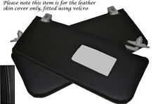 BLACK STITCH FITS ROVER 45 400 MG ZS 98-05 2X SUN VISORS LEATHER COVERS ONLY