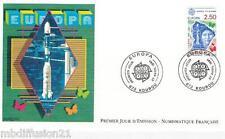 1991//ENVELOPPE ILLUSTREE**FDC 1°JOUR!!**EUROPA ESPACE-GUYANE**TIMBRE Y/T 2696