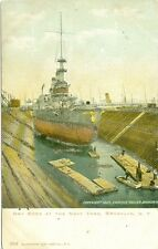 Brooklyn, NY 1903 Naval ship in Dry Dock at the Navy Yard