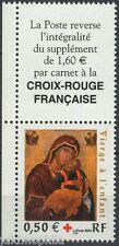 Y&T n° 3717 avec vignette Croix Rouge  2004 NEUF **