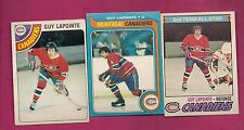 1977 1978 1979 OPC CANADIENS GUY LAPOINTE  CARD (INV# 8374)