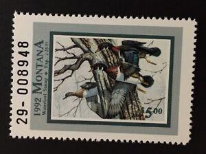 Montana 1992 $5.00 State Duck Stamp (#40) - MNH - MT