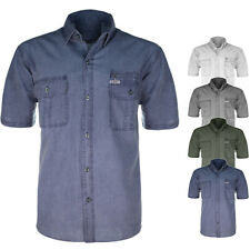 Camicia Uomo Con Taschino Cotone Comfort Regular Fit Mezza Manica Corta VEQUE
