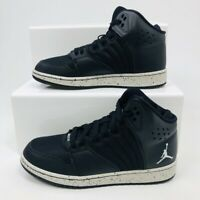 6f9b94e76560 NIKE AIR JORDAN 1 FLIGHT 4 PREMIUM TRAINERS OREO SPECKLE WOMENS GIRLS SHOES  RRP