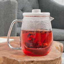 Teekanne TOMI aus Thermoglas (Borosilikat-Glas) mit Glassieb (Inhalt: ca. 700ml)