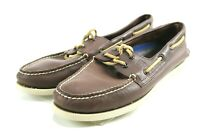 Sperry Top Sider AO 2 Eye $90 Men's Boat Shoes Size 9 Brown Leather