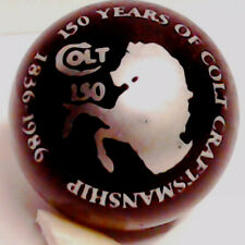 COLT 150 YEARS of CRAFTMANSHIP BLACK GLASS ANNIVERSARY SHOOTER MARBLE 1836-1986