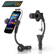 Universal Car Phone Holder Mount with 3.1A USB Charger Handsfree FM Transmitter