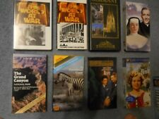 Lot of 19 VHS tapes: mostly Docs & Family themed videos, see description