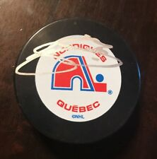 Joe Sakic Quebec Signed Vintage Hockey Nhl Auto Puck Jsa/Coa T89360
