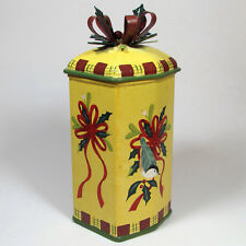 """Lenox Winter Greetings Everyday 10"""" Toleware Metal Snack Treat Gift Tin McClung"""