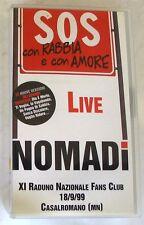 NOMADI - SOS CON RABBIA E CON AMORE LIVE - VHS Nuova Unplayed