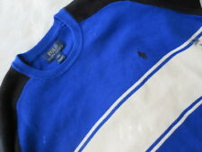 Polo Ralph Lauren Boys Pullover Sweater Stripes Sz XL 18-20 Blue C8