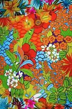 "An Alexander Henry Tropical Print, Brilliant Flowers, ""Cancun"", 24""x44"""