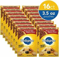 16ct Pedigree Chopped Ground Dinner Adult Wet Dog Food,Bacon&Filet Mignon Flavor