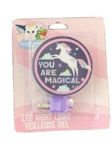 You are Magical Rainbow Unicorn LED Night Light Plug-In Rotary Shade Cuddly Crew