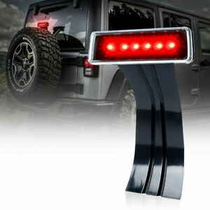 Xprite 3rd LED Rear Tail Brake Light for 2007-2018 Jeep Wrangler JK Clear Lens