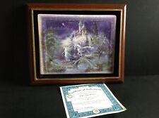 Dream Castles Follow Your Dreams Believe 1st Issue Plate Mimi Jobe Coa framed