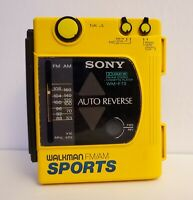 Sony WM-F73 Walkman Sports Cassette Player (ONLY RADIO WORKING) FOR PARTS*REPAIR