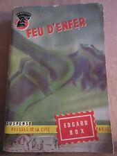 """Edgar Box: Feu d'Enfer/ Presses de la Cité """"Un Mystère"""" N°203, 1955"""