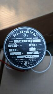 Synchronous Stepping motor-Superior Electric 120V SS25-111OU circa 1969