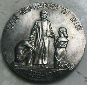 Large Silver Religious Medal - San Giovanni Provinicia Romana Fatebenefratelli