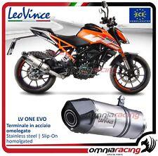 Leovince LV One Evo Pot D'Echappement acier KTM 390 /125 Duke/RC 390/125 2017>