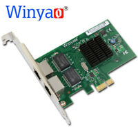 Winyao PCI-E X1 2-Port 10/100/1000Mbps Gigabit Network Card NIC For BCM5709 lan