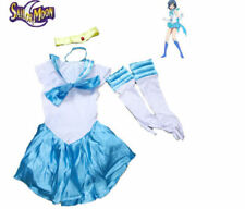 Sailor Moon Mercury Costume Fancy Light Blue Dress for Cosplay Halloween Party