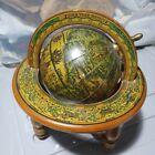 Vintage Wood Olde World Desk Globe Terrestial Zodiac Made In Italy