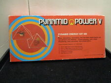 VINTAGE  Pyramid Power V 1976 COMPLETE IN ORIGINAL BOX PYRAMID ENERGY KIT 525