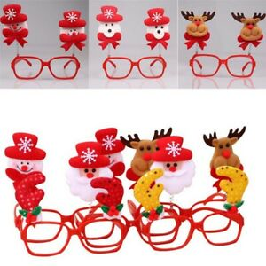 Funny Adult Kids Christmas Glasses Eyeglass Frame Xmas Party Decor Accessories