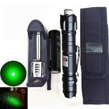 Military 5mw Green Laser Pointer Pen 532nm Visible Beam Focus Burn+18650 Battery