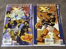 2005 MARVEL Comics ULTIMATE X4 #1-2 Complete Set X-MEN & FANTASTIC FOUR - NM/MT