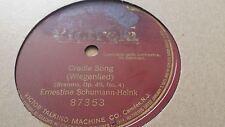 ERNESTINE SCHUMANN-HEINK CRADLE SONG  VICTROLA 87353