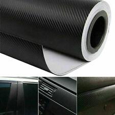 Car 3D Carbon Fibre Vinyl Wrap (Air/Bubble Free) Black 2m x600mm Sheet Sticker