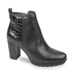 VALLEVERDE 49373 Knöchelschuhe Schuhe Stiefelette Absatz Leder Frau