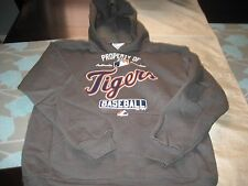 BOYS/GIRLS YOUTH MAJESTIC DETROIT TIGERS HOODIE GRAY S SMALL  NWT