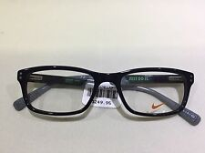 NEW Nike Just Do It 7237 (001) Black Grey Green 52[]17  140 Eyeglasses Frame