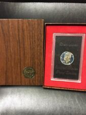 1972 S Proof Eisenhower Original Brown Box Ike Dollar 40% Silver US Coin