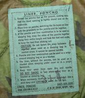 1969 New Deadstock Genuine USGI Mint Army Marine ERDL Poncho Liner Woobie