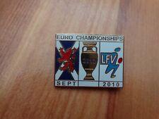 CLASSIC SCOTLAND V LIECHTENSTEIN EURO 2012 QUALIFIER MATCHDAY ENAMEL PIN BADGE