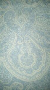 """LAUREN Ralph Lauren """"White Blue Art Paisley"""" Queen Flat Sheet Only"""