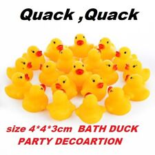 10-100PCS Mini Yellow Rubber Ducks Ducky Bathing Squeaky Water Baby Shower Toys