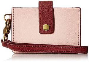 Fossil Mini Tab Wallet SL7761577 Pink/Red BNWT