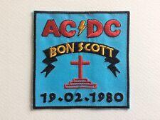 M019 // ECUSSON PATCH AUFNAHER TOPPA / NEUF / AC DC BON SCOTT / 8*8 CM
