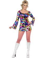 Discothèque Lady Femmes Costume de carnaval 60 s Années '70 neuf