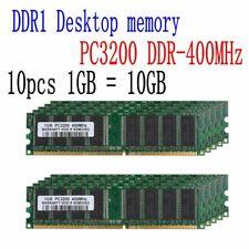10Gb Memory 10x 1Gb Ddr Pc3200 400Mhz 184pin 333 266 Non-Ecc Lo-Dimm Ram Desktop