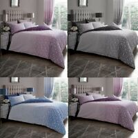 Luxury Ohari Ombre Duvet Cover Bedding Set with Pillow Cases, All Sizes