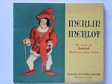 MERLIN MERLOT 1948 ALBUM PERE CASTOR SAMIVEL ILLUSTRE